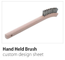 Hand Held Brush Custom Design Sheet