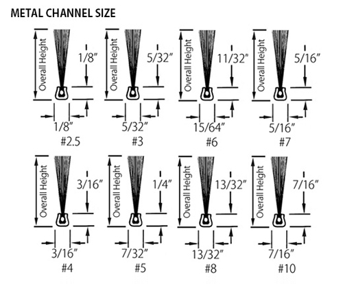 Metal Channel Size