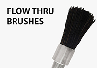 Flow Thru Brushes