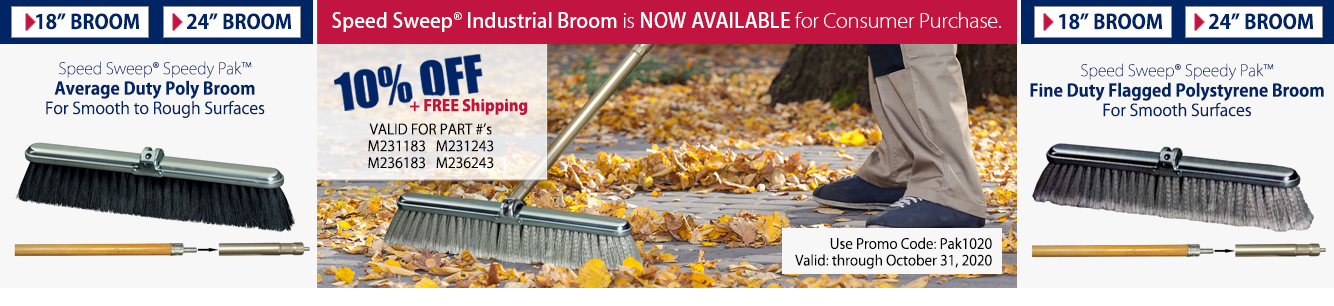 Speed Sweep® Industrial Broom is NOW AVAILABLE for Consumer Purchase.