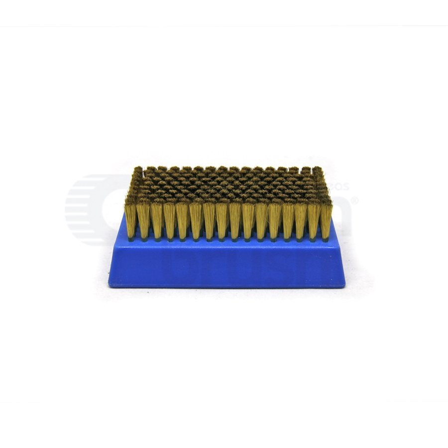 "0.003"" Brass Bristle, 4-1/4"" x 2-1/2"" Plastic Block Brush"
