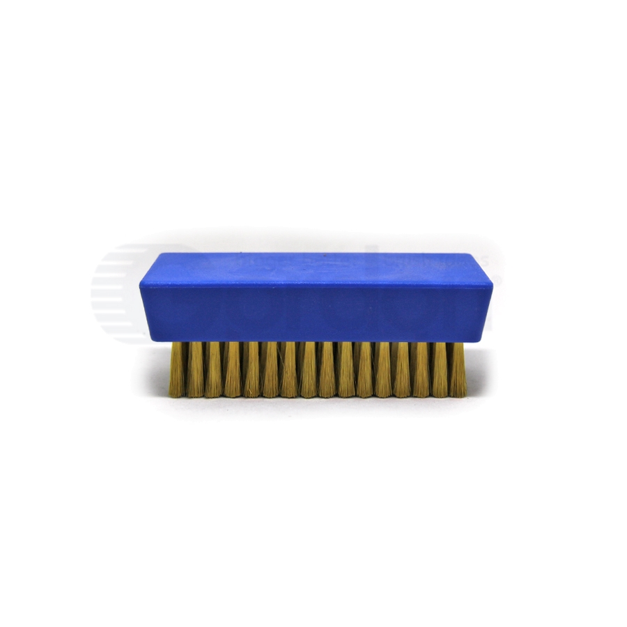 "0.003"" Brass Bristle, 4-1/4"" x 2-1/2"" Plastic Block Brush 2"