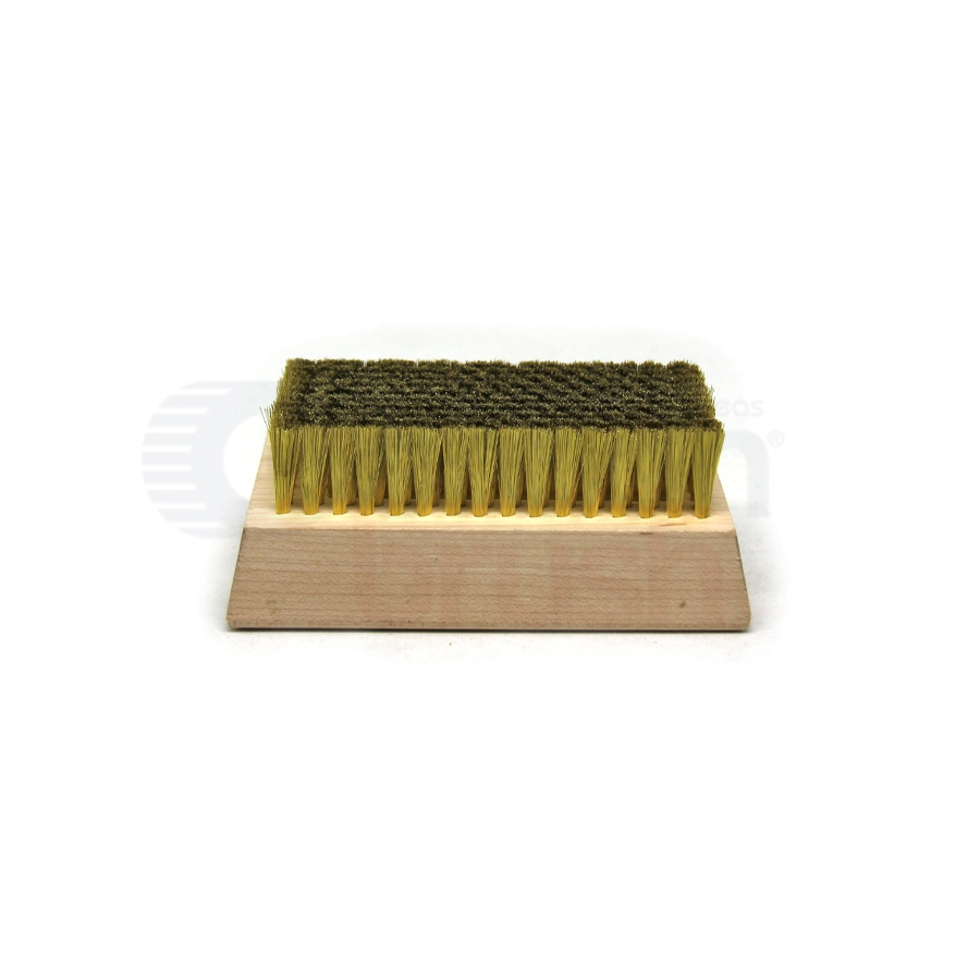 "0.003"" Brass Bristle, 4-1/4"" x 2-1/2"" Wood Block Brush"