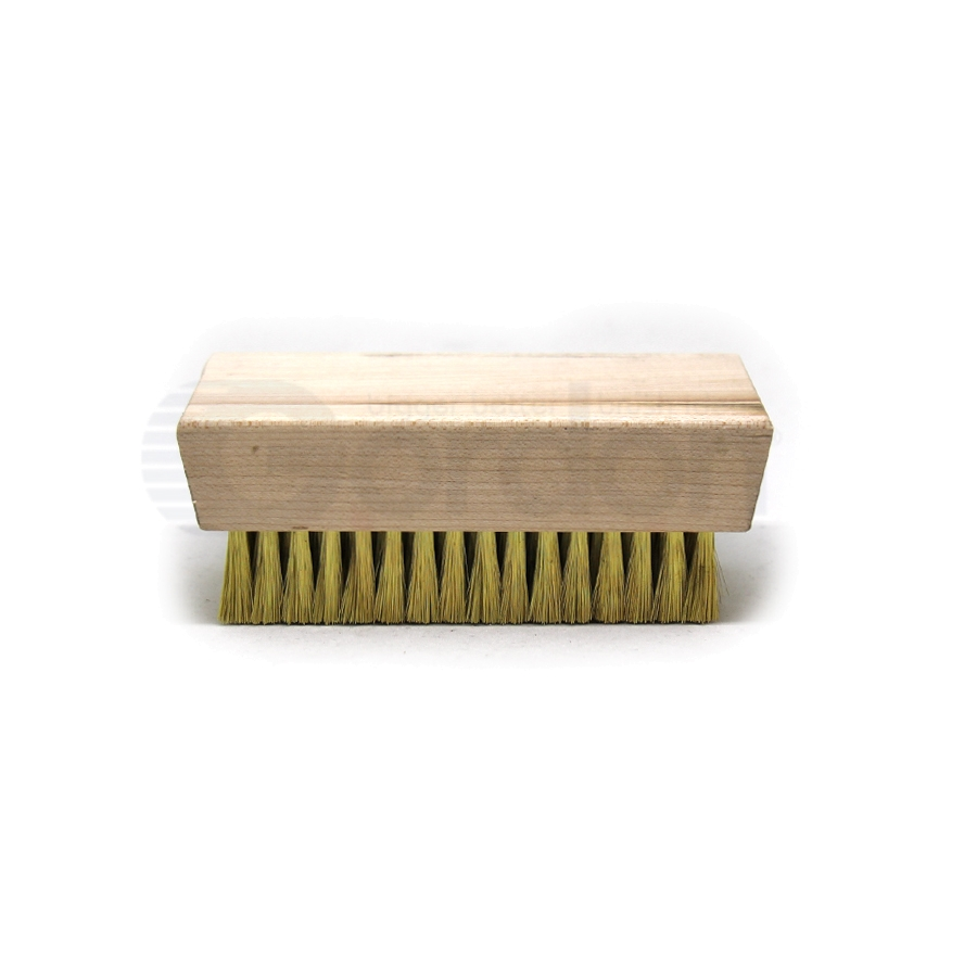 "0.003"" Brass Bristle, 4-1/4"" x 2-1/2"" Wood Block Brush 2"