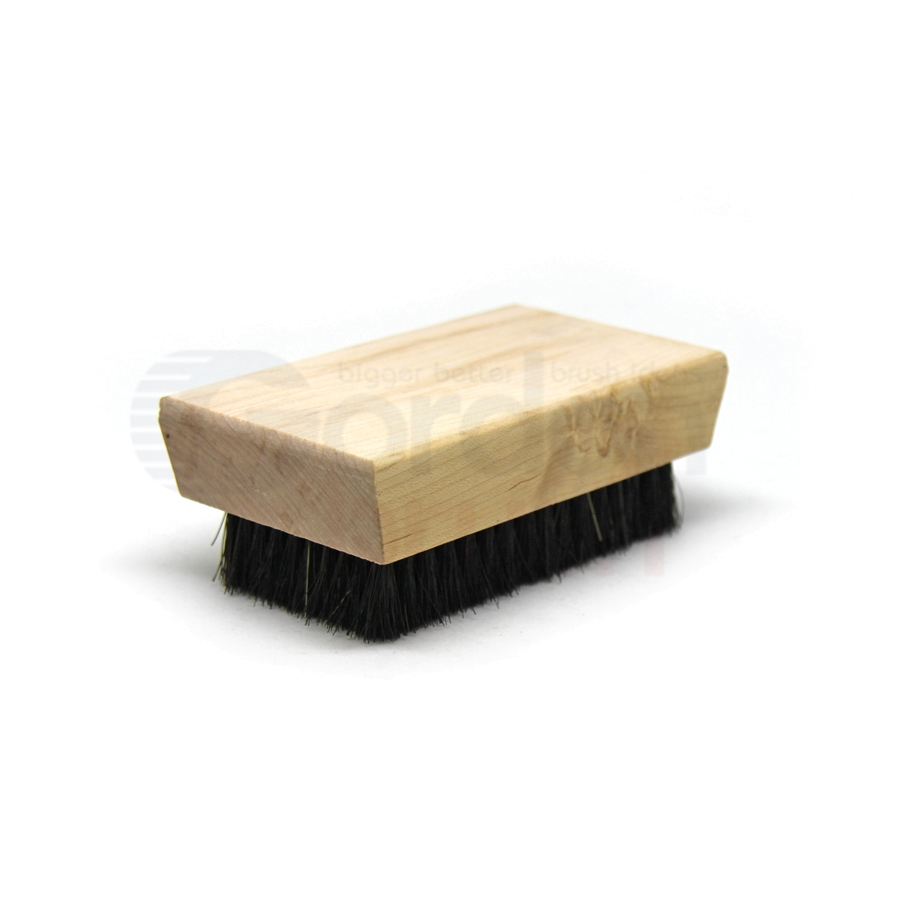 "0.005"" Brass/Horsehair Bristle, 4-1/4"" x 2-1/2"" Wood Block Brush 2"
