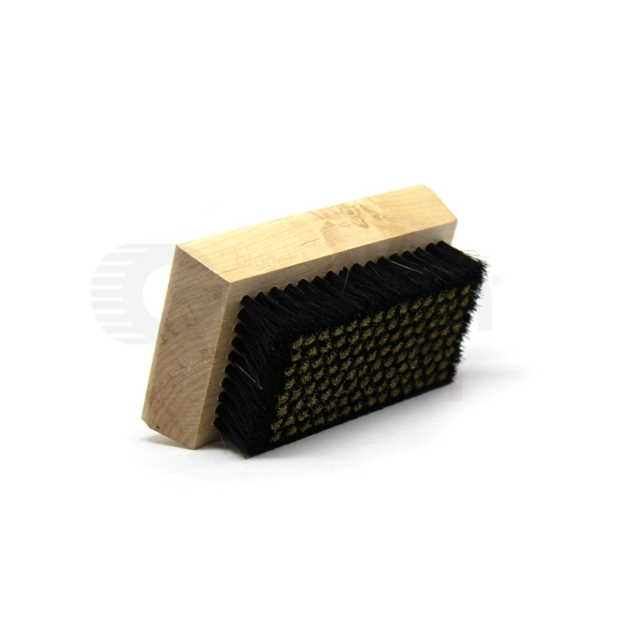 "0.005"" Brass/Horsehair Bristle, 4-1/4"" x 2-1/2"" Wood Block Brush 3"
