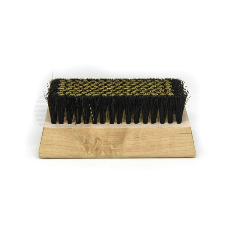 "0.005"" Brass/Horse Hair Bristle, 4-1/4"" x 2-1/2"" Wood Block Brush"