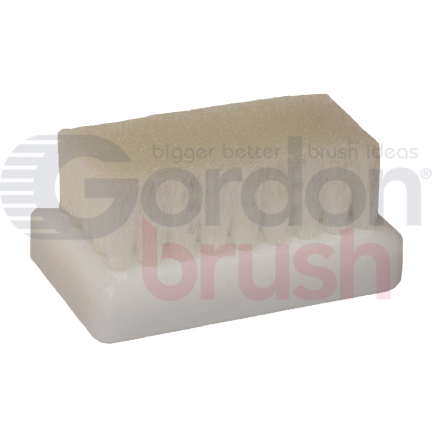 "0.006"" Crimped Nylon Bristle, 2-1/2"" x 1-7/16"" Plastic Block Scrub Brush"