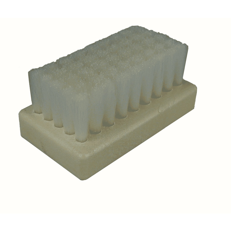 "0.006"" Crimped Nylon Bristle, 2-1/2"" x 1-7/16"" Plastic Block Scrub Brush 2"