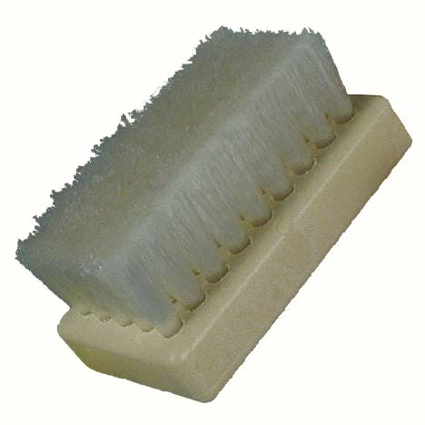 "0.006"" Crimped Plyer Bristle, 2-1/2"" x 1-7/16"" Plastic Block Scrub Brush"