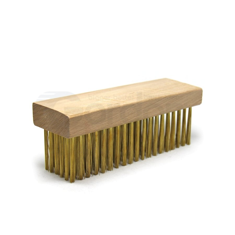 "0.012"" Brass Bristle, 7-1/8"" x 2-1/4"" Large Block Brush"