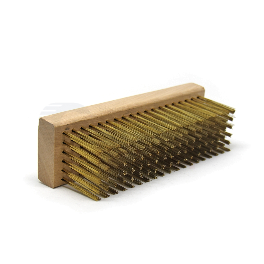 "0.012"" Brass Bristle, 7-1/8"" x 2-1/4"" Large Block Brush 2"