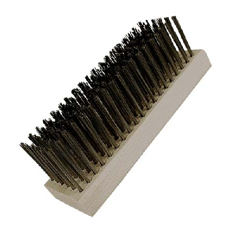 "0.012"" Stainless Steel Bristle, 7-1/8"" x 2-1/4"" Large Block Brush"