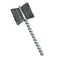 "1-1/4"" Brush Diameter .005"" Fill Wire Diameter Side Action Brush-Paddle Brush - Carbon Steel"
