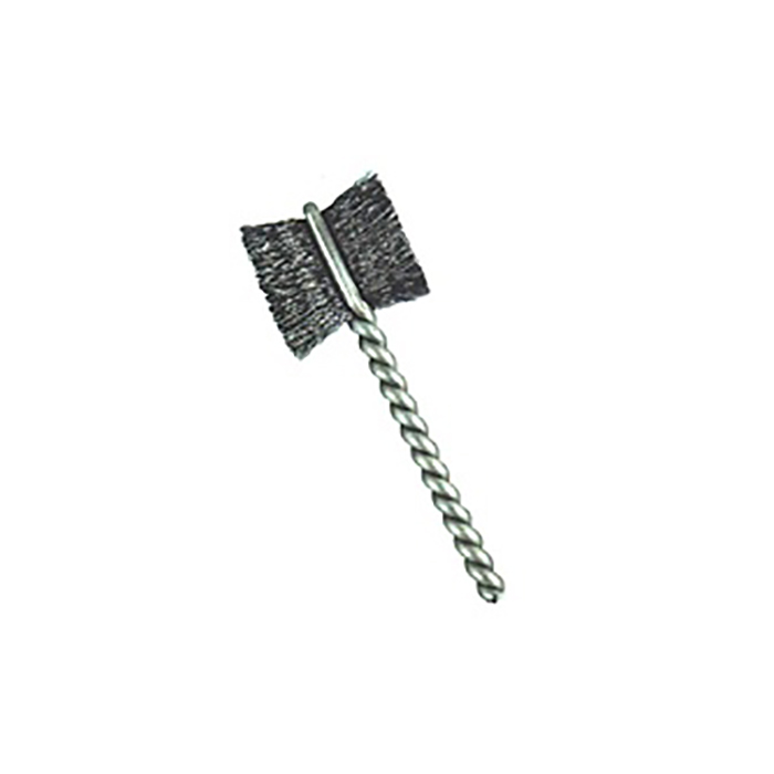 "1-1/4"" Brush Diameter .005"" Fill Wire Diameter Side Action Brush-Paddle Brush - Stainless Steel"