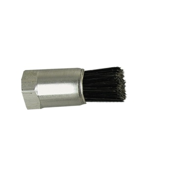 "1/4"" Diameter Body, Goat Hair Fill, .038"" Orifice, Female Thread, Flow Thru Brush"