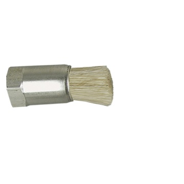 "1/4"" Diameter Body, Horsehair Fill, .038"" Orifice, Female Thread, Flow Thru Brush"