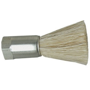 "1"" Diameter Body, Horsehair Fill, .125"" Orifice, Female Thread, Flow Thru Brush"