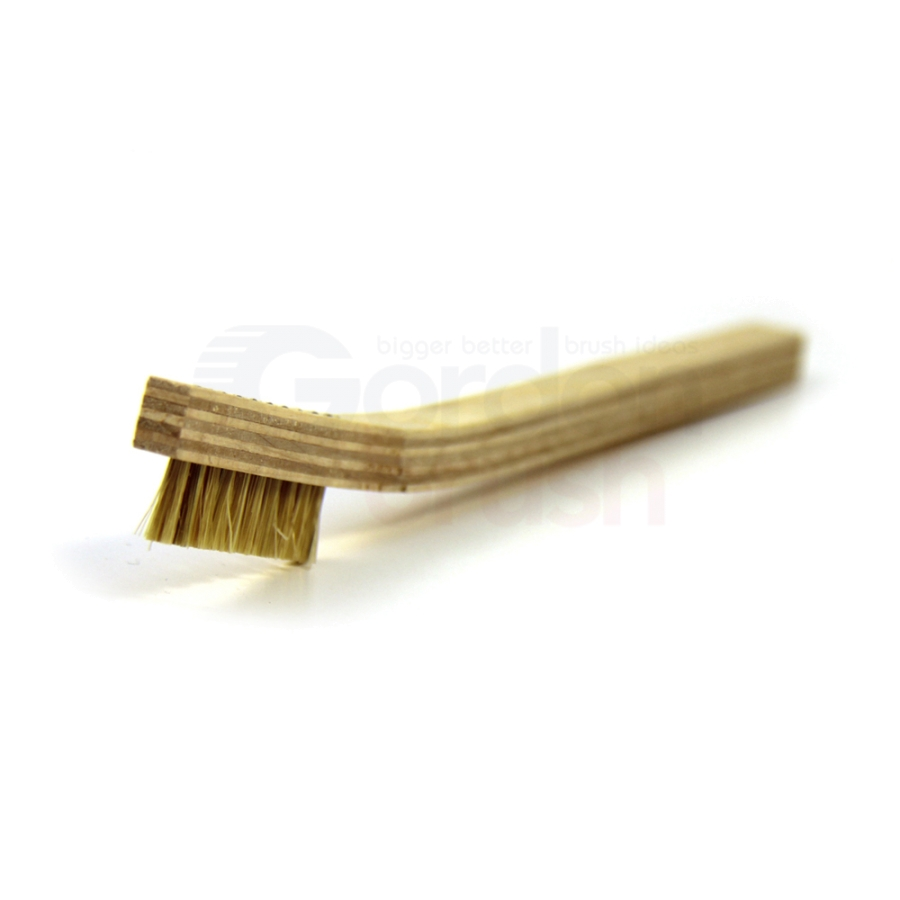 1 x 10 Row Hog Bristle and Plywood Handle Brush