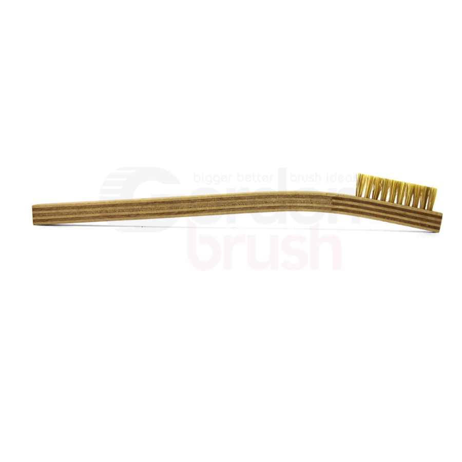 1 x 10 Row Hog Bristle and Plywood Handle Brush 3