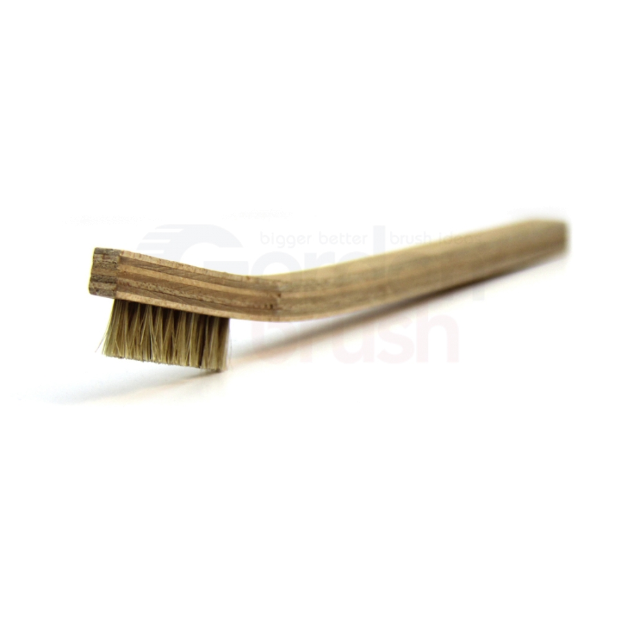 1 x 10 Row Horse Hair Bristle and Plywood Handle Brush