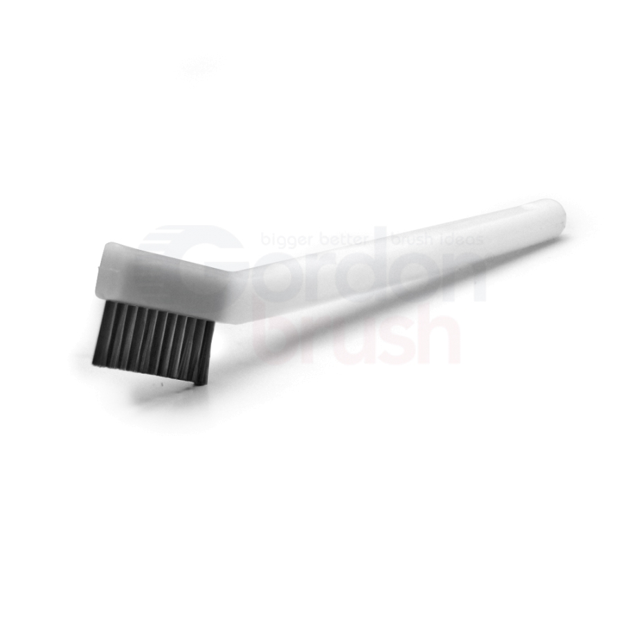 "1 x 11 Row 0.003"" Stainless Steel Bristle and Acetal Handle Scratch Brush"