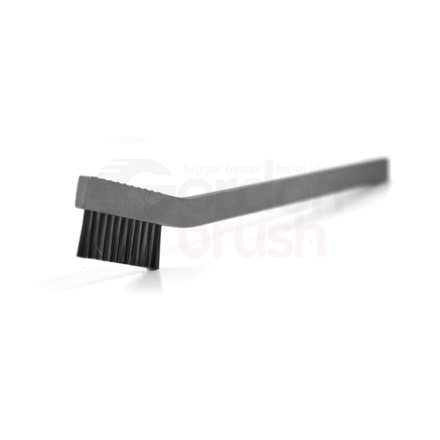"1 x 11 Row 0.003"" Stainless Steel Wire and Aluminum Handle Hand-Laced Scratch Brush"
