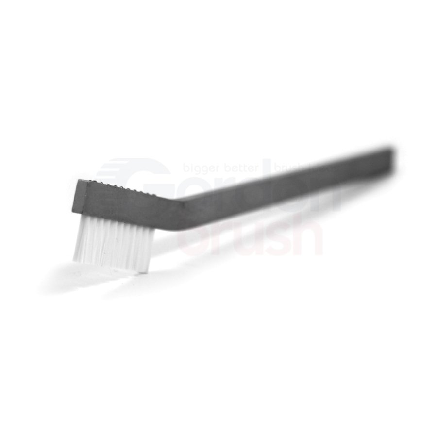 "1 x 11 Row 0.010"" Static Dissipative Nylon Bristle and Aluminum Handle Hand-Laced Brush"