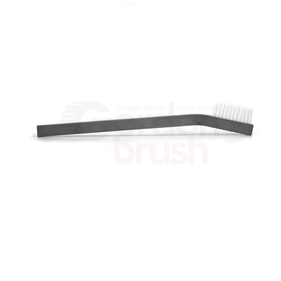 "1 x 11 Row 0.010"" Static Dissipative Nylon Bristle and Aluminum Handle Hand-Laced Brush 3"