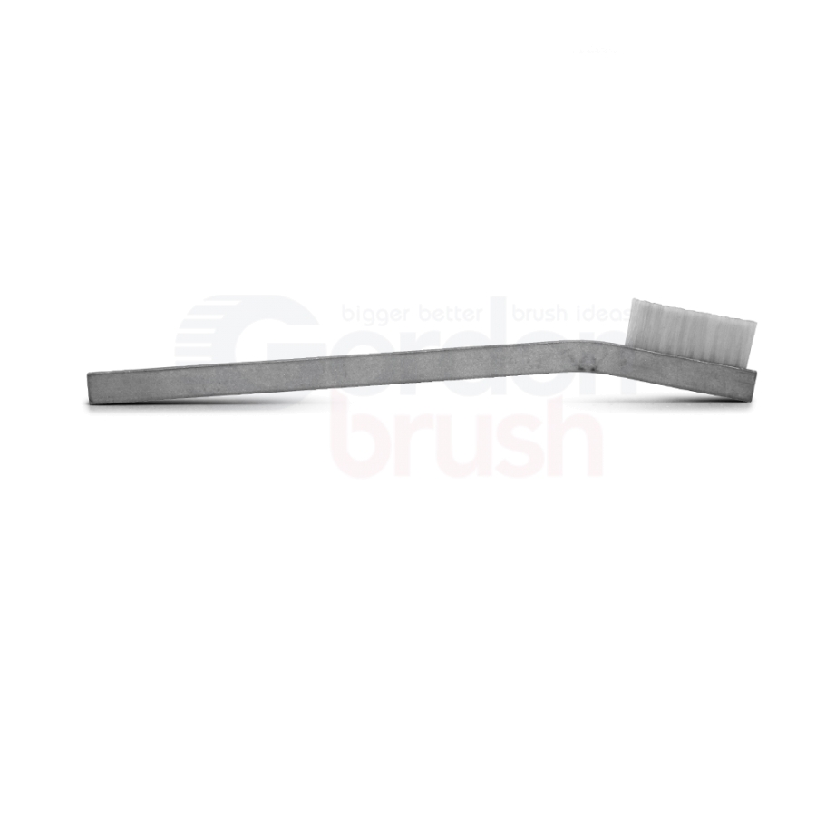 "1 x 11 Row 0.012"" Nylon Bristle and Aluminum Handle Hand-Laced Brush 3"