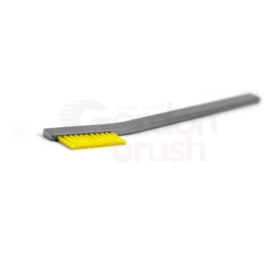 "1 x 11 Row 0.016"" Static Dissipative Nylon Bristle and Aluminum Handle Hand-Laced Brush 2"