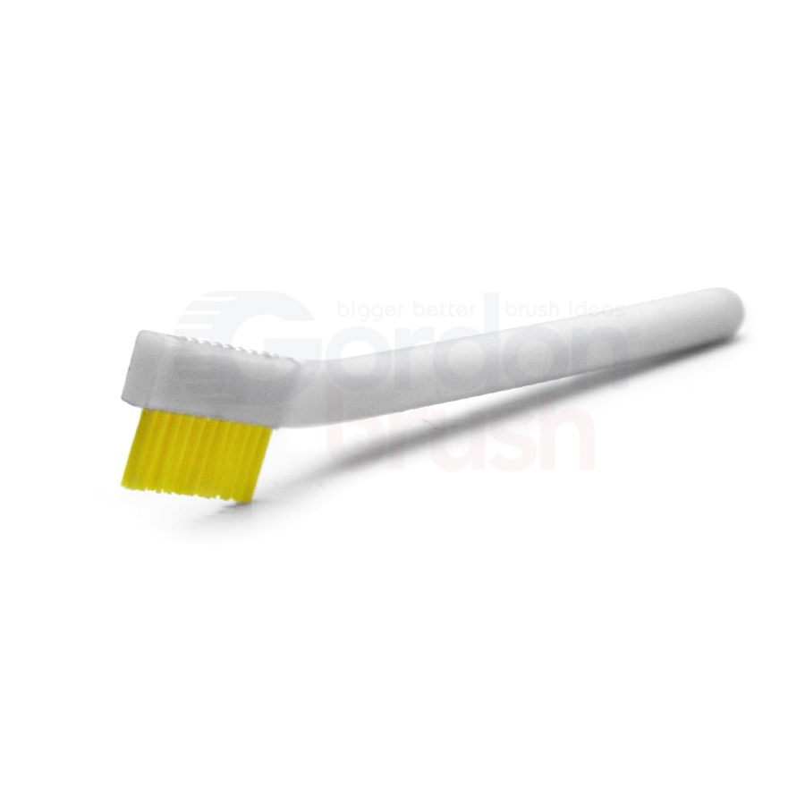 "1 x 11 Row 0.016"" Stiff Static Dissipative Nylon Bristle and Static Dissipative Acetal Handle Brush"