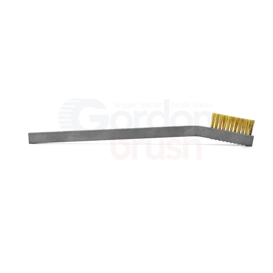1 x 11 Row Hog Bristle and Aluminum Handle Hand-Laced Brush 3