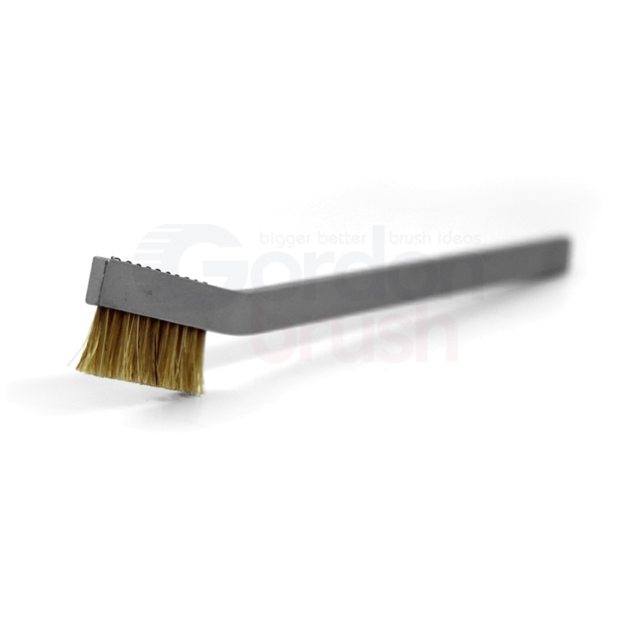 1 x 11 Row Horsehair and Aluminum Handle Hand-Laced Brush