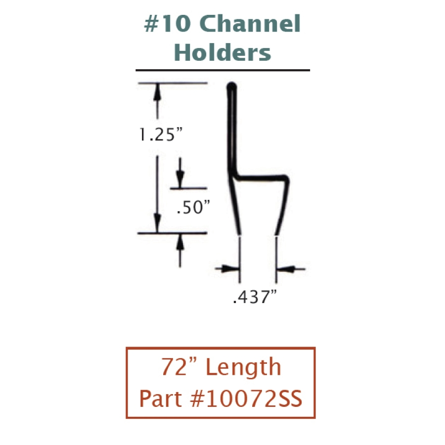 #10 Stainless Steel Channel Holders 2
