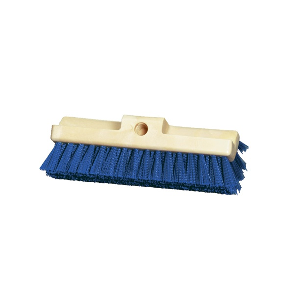 "10"" Three Surface Deck Scrub with Stiff Blue Polypropylene"