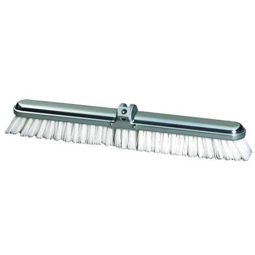 "14"" Steel Back Deck Scrub with Extra Stiff Polypropylene"