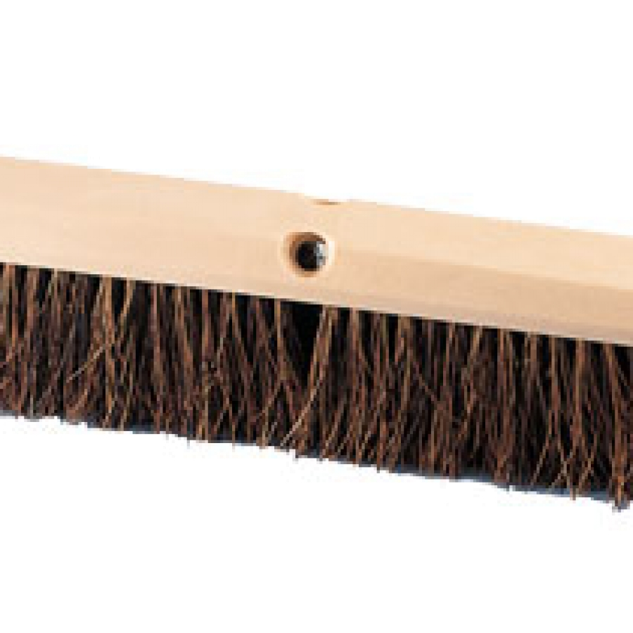 "18"" Heavy-duty Floor Broom with natural palmyra bristles"