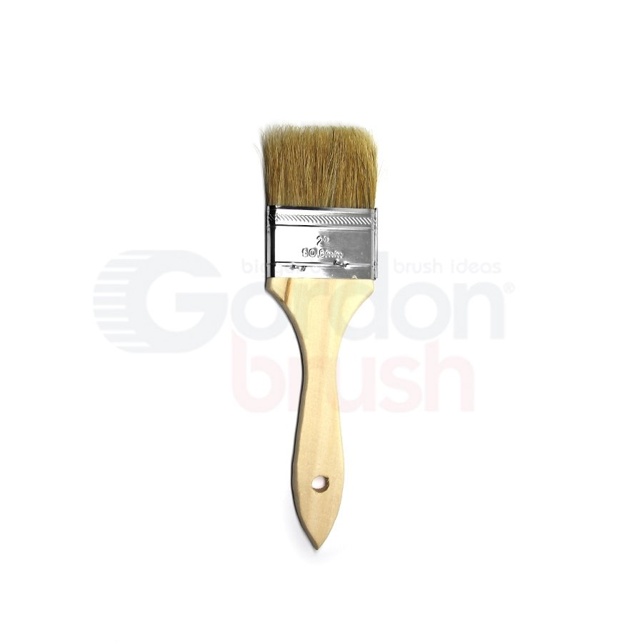 "2"" Natural Bristle and Wood Handle Chip Brush"