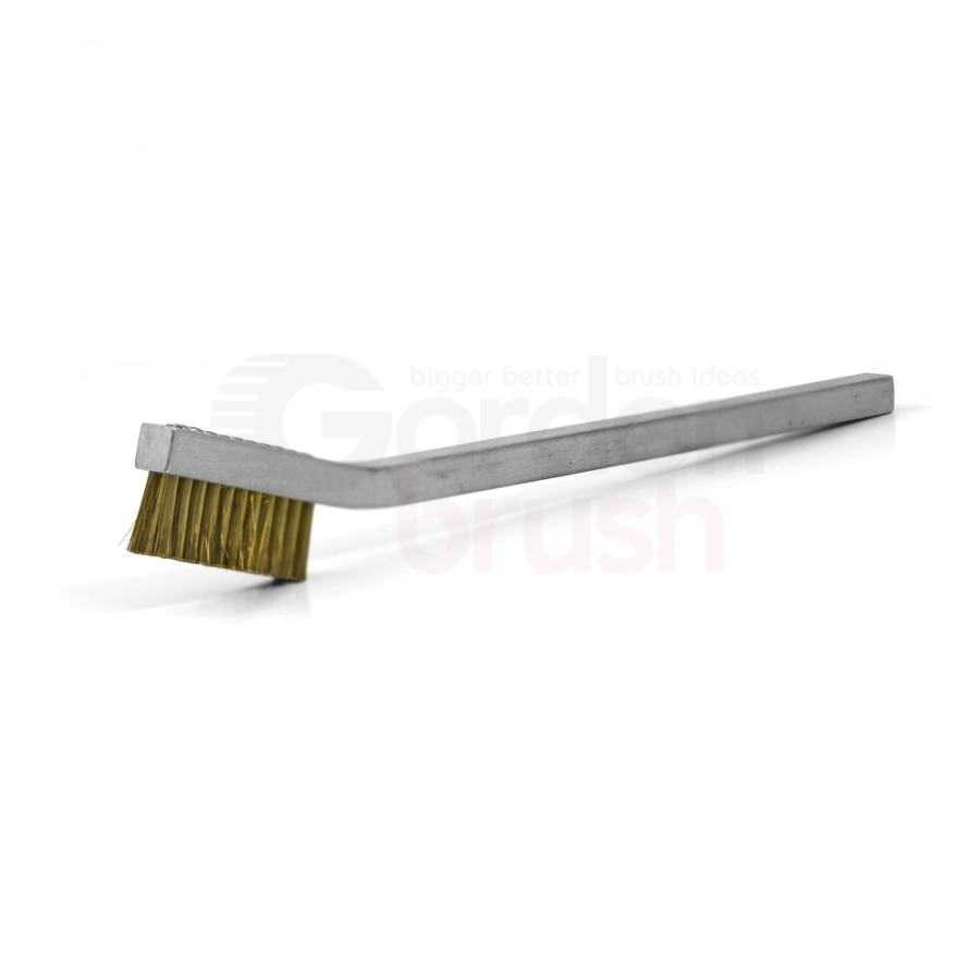 2 x 11 Row Goat Hair and Aluminum Handle Hand-Laced Brush