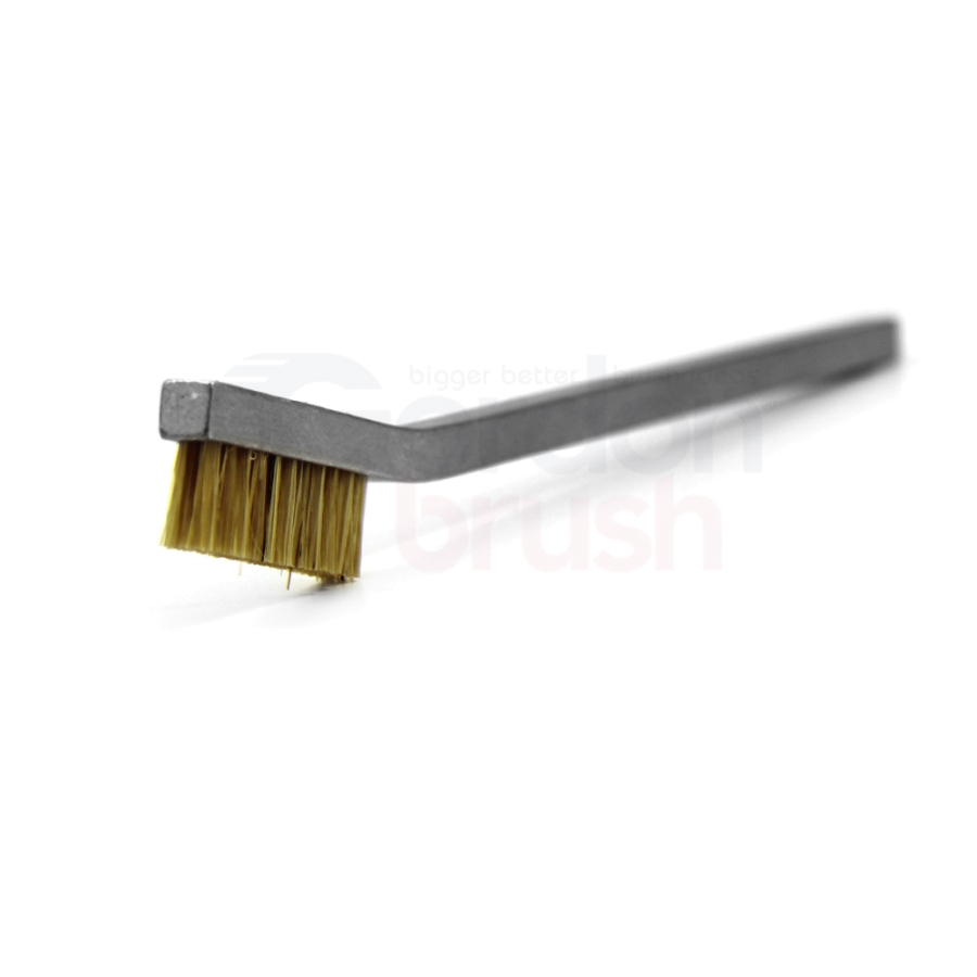 2 x 11 Row Horsehair and Aluminum Handle Hand-Laced Brush