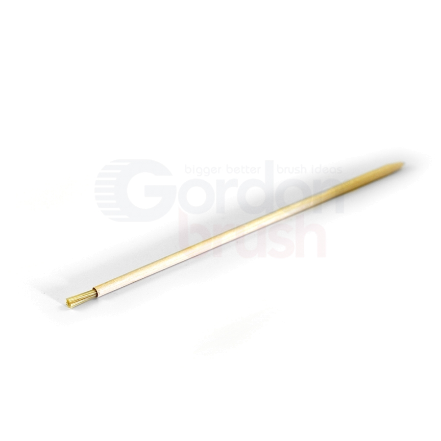 "3/16"" Diameter Hog Bristle/Wood Applicator Brush"