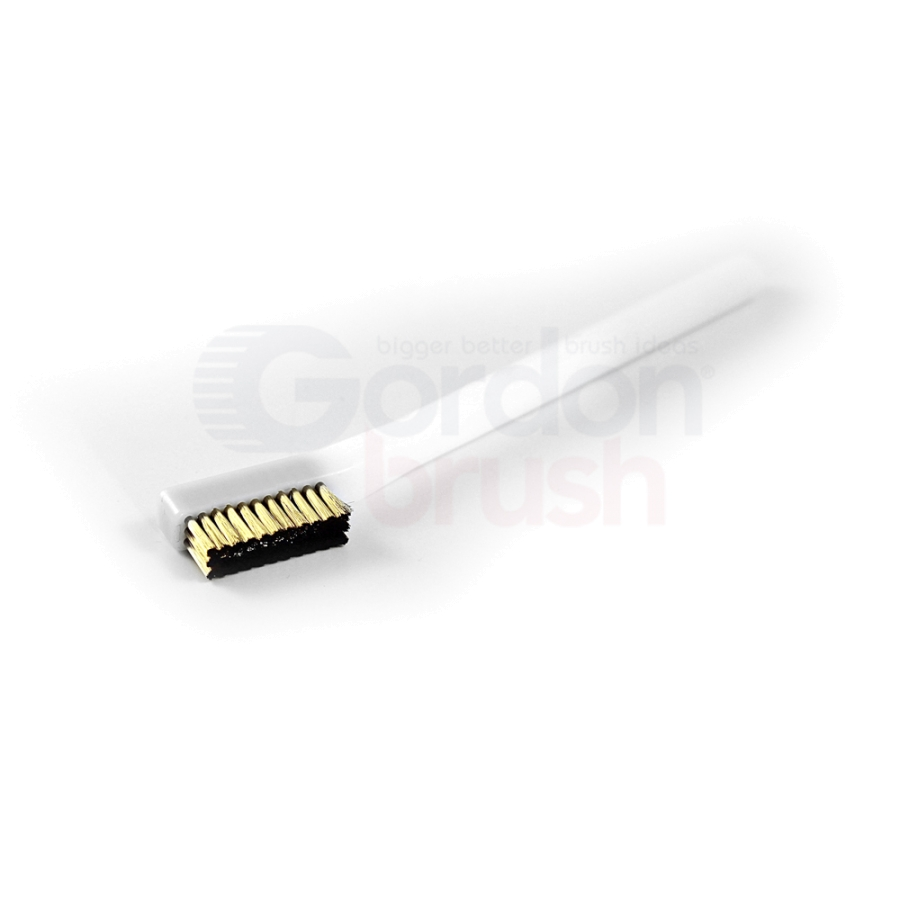 "3 x 11 Row 0.003"" Stainless Steel Bristle and Acetal Handle Scratch Brush 2"