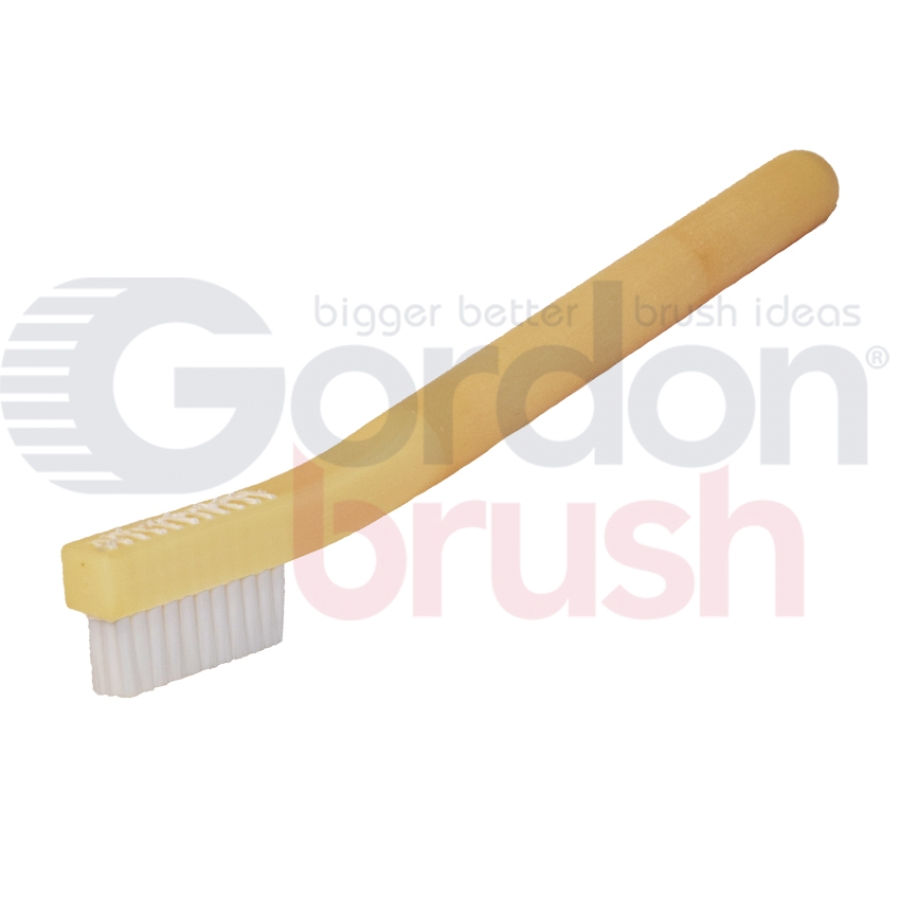"3 x 11 Row 0.010"" Static Dissipative Nylon Bristle and Static Dissipative Acetal Handle Brush"
