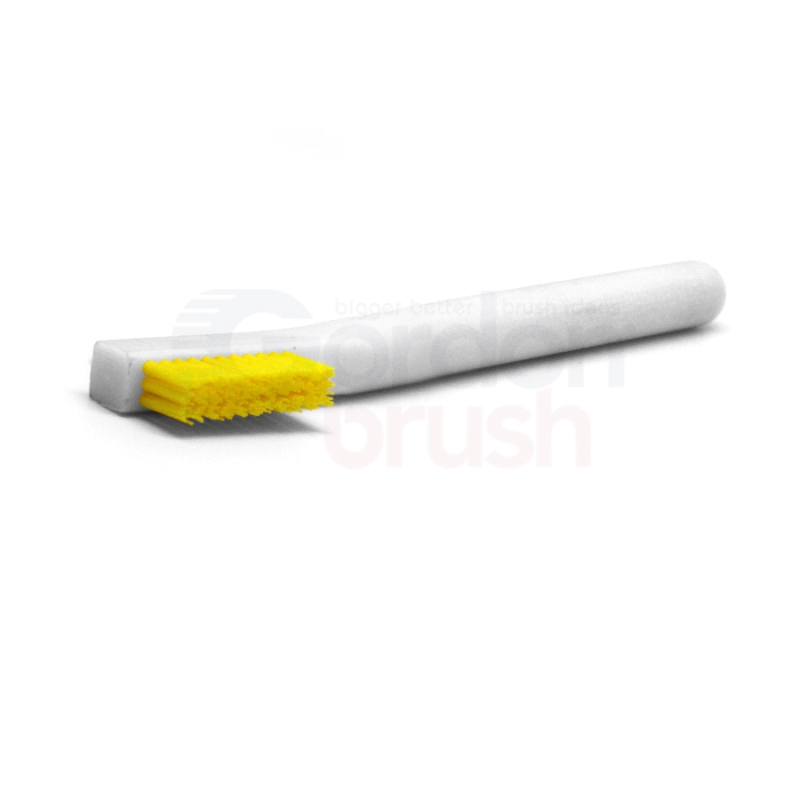 "3 x 11 Row 0.016"" Stiff Static Dissipative Nylon Bristle and Static Dissipative Acetal Handle Brush 2"