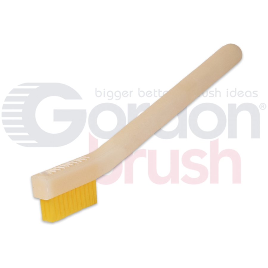 "3 x 11 Row 0.016"" Stiff Static Dissipative Nylon Bristle and Static Dissipative Acetal Handle Brush"