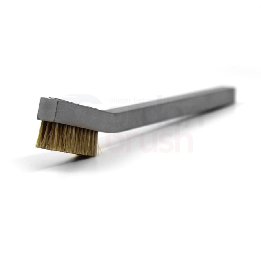 3 x 11 Row Horsehair and Aluminum Handle Hand-Laced Brush