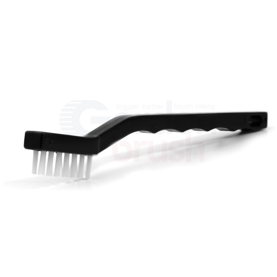 "3 x 7 Row 0.016"" Nylon Bristle and Plastic Handle Scratch Brush"