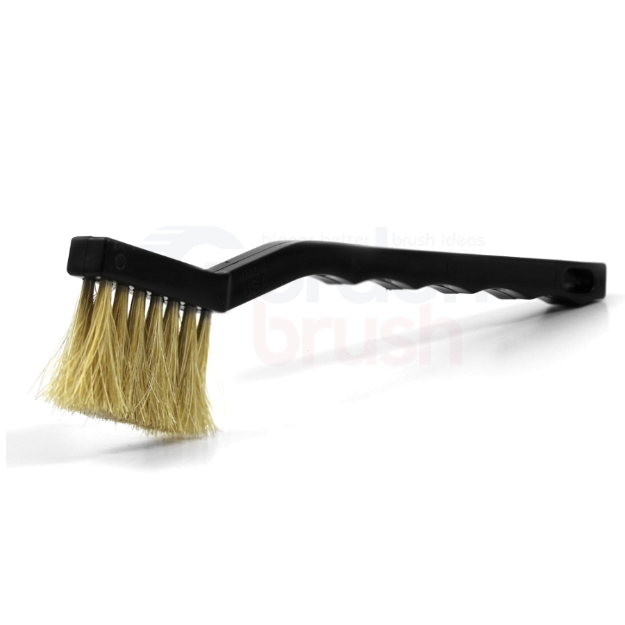 3 x 7 Row Horse Hair Bristle and Plastic Handle Long Trim Scratch Brush
