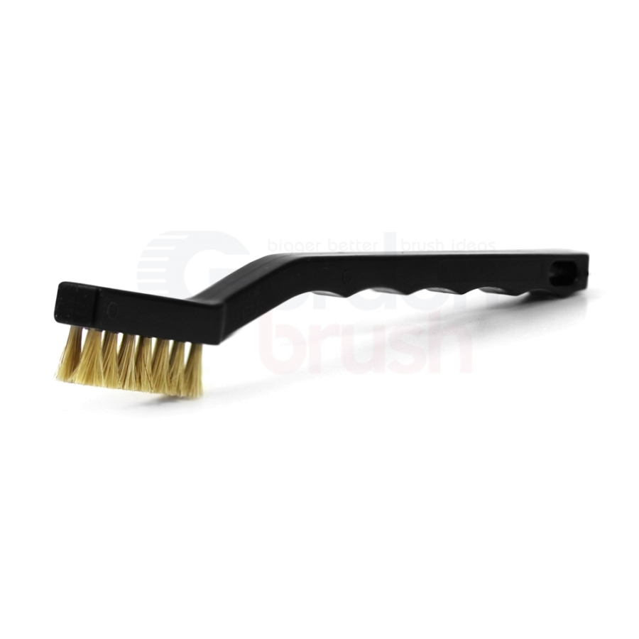 3 x 7 Row Horse Hair Bristle and Plastic Handle Scratch Brush
